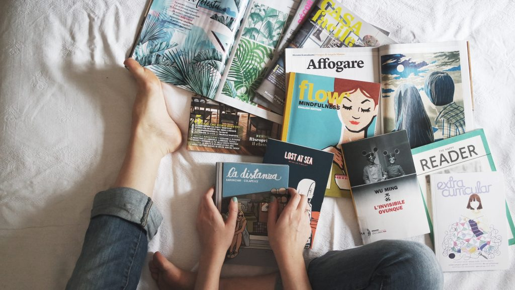 Image for bed full of books