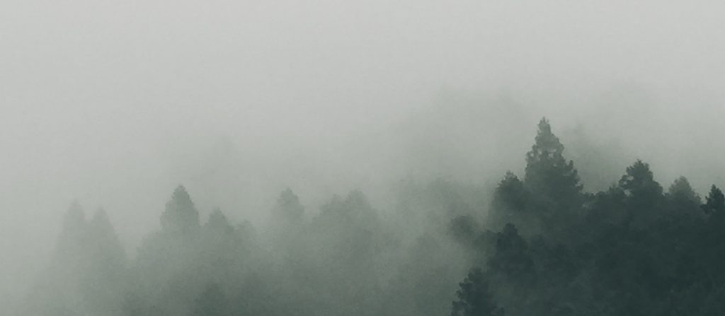 Image of Japan in the fog