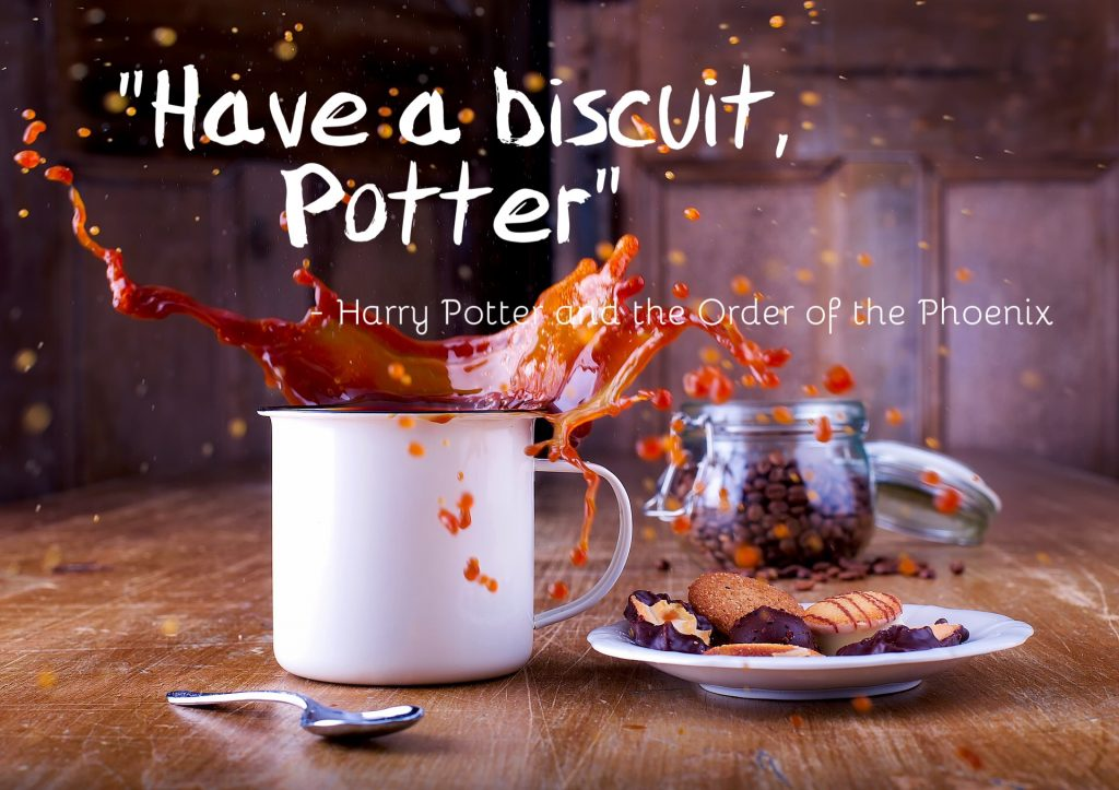 Image for Harry Potter Biscuit Quote
